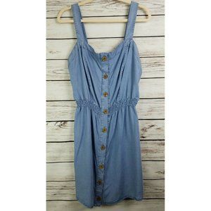 Love Tree Chambray Cinched Waist Dress